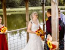 Wedding ceremony at Civil War Ranch near Carthage and Joplin, Missouri