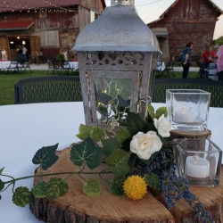 civil war ranch courtyard table decor